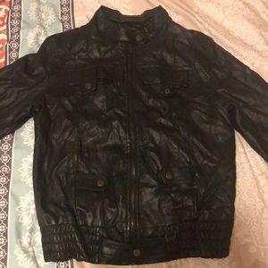 Women's faux leather jacket - Medium